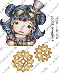 Steampunk Molli Rubber Stamp