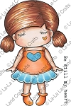 Paper Doll Marci - Sweetheart Rubber Stamp