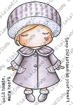 Winter Coat Paper Doll Marci Rubber Stamp