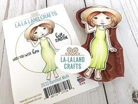 Barefoot Molli Rubber Stamp