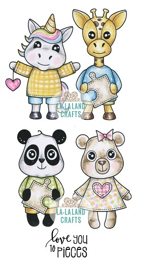 Love Critters Rubber Stamp