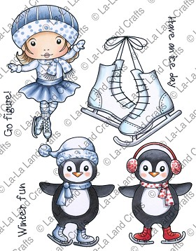 Winter Fun Rubber Stamp
