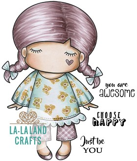 Paper Doll Marci - Awesome Rubber Stamp