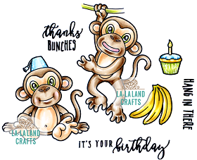 Monkey Business Rubber Stamp