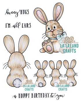 Bunny Hugs Rubber Stamp