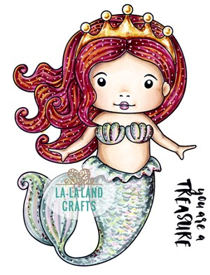 Mermaid Princess Marci Rubber Stamp