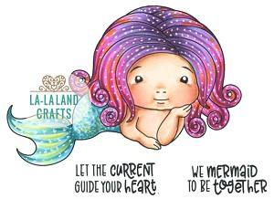 Mermaid Baby Marci Rubber Stamp