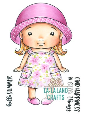 Summer Baby Marci Rubber Stamp