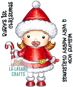 Santa's Helper Baby Marci Rubber Stamp