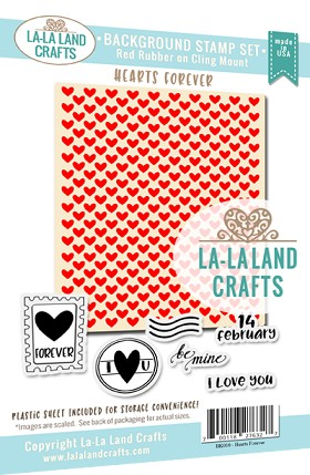 Hearts Forever Background Stamp Set