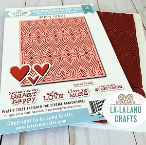 Happy Heart Background Stamp Set