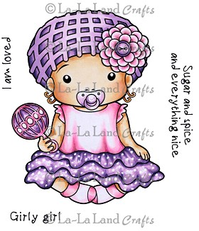 Baby Marci with Rattle Digi Stamp