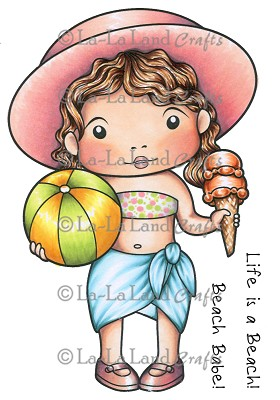 Beach Babe Marci Rubber Stamp
