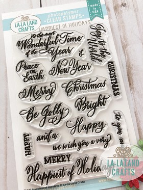 Happiest of Holidays Clear Stamp Set