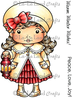Christmas Lantern Marci Rubber Stamp