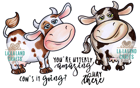 Cow's it going? Rubber Stamp
