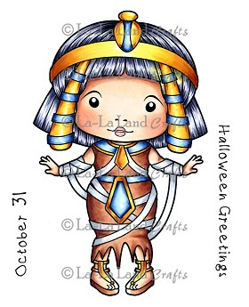 Egyptian Mummy Marci Rubber Stamp