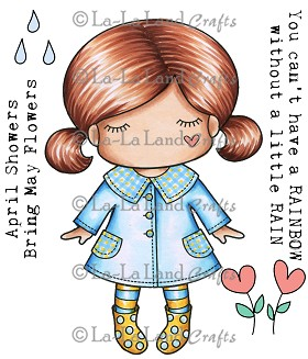 Paper Doll Marci - Spring Showers Rubber Stamp