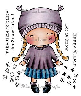 Paper Doll Marci - Winter Rubber Stamp