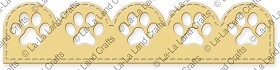Paw Scalloped Border Die