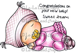 Sleeping Baby Marci Rubber Stamp