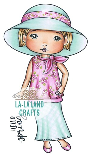 Spring Hat Molli Rubber Stamp