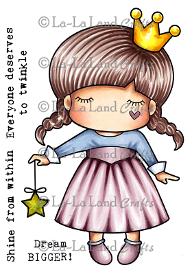 Star Princess Paper Doll Marci  Rubber Stamp