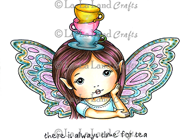 Teacup Faerie Molli Rubber Stamp