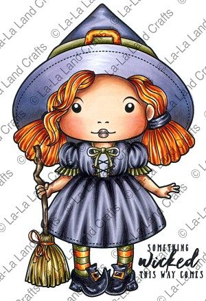 Witch Marci Rubber Stamp