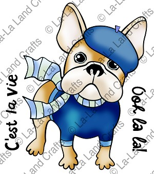 Frenchie Frenchie Digi Stamp